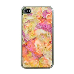 Soft Floral,roses Apple iPhone 4 Case (Clear)