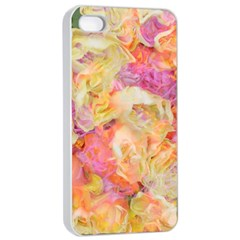Soft Floral,roses Apple iPhone 4/4s Seamless Case (White)