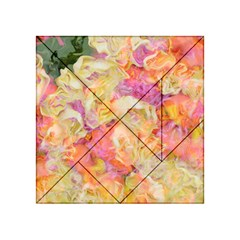 Soft Floral,roses Acrylic Tangram Puzzle (4  x 4 )