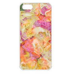 Soft Floral,roses Apple iPhone 5 Seamless Case (White)