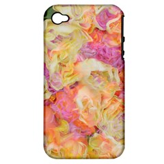 Soft Floral,roses Apple iPhone 4/4S Hardshell Case (PC+Silicone)