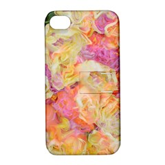 Soft Floral,roses Apple iPhone 4/4S Hardshell Case with Stand