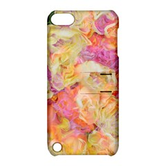 Soft Floral,roses Apple iPod Touch 5 Hardshell Case with Stand