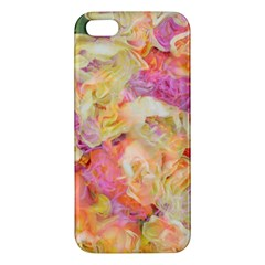 Soft Floral,roses Apple iPhone 5 Premium Hardshell Case