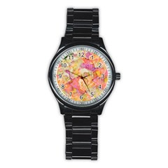 Soft Floral,roses Stainless Steel Round Watches