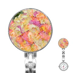 Soft Floral,roses Stainless Steel Nurses Watches