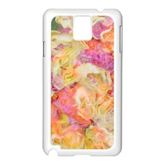 Soft Floral,roses Samsung Galaxy Note 3 N9005 Case (White)