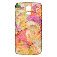 Soft Floral,roses Samsung Galaxy S5 Back Case (White)