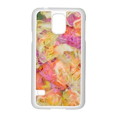 Soft Floral,roses Samsung Galaxy S5 Case (White)
