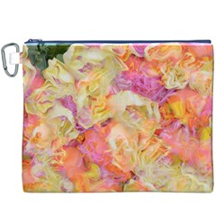 Soft Floral,roses Canvas Cosmetic Bag (XXXL)