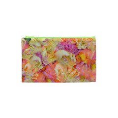 Soft Floral,roses Cosmetic Bag (XS)