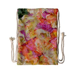 Soft Floral,roses Drawstring Bag (Small)