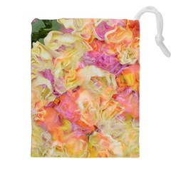 Soft Floral,roses Drawstring Pouches (XXL)