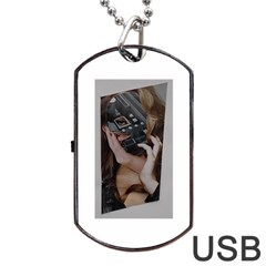 Chipped Dog Tag USB Flash (One Side)