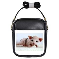 Sphynx Kitten Girls Sling Bags