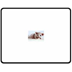 Sphynx Kitten Fleece Blanket (Medium)