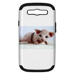Sphynx Kitten Samsung Galaxy S III Hardshell Case (PC+Silicone)