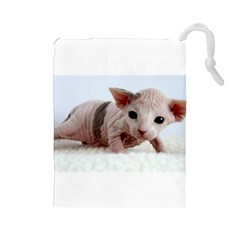 Sphynx Kitten Drawstring Pouches (Large)
