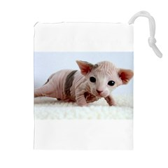 Sphynx Kitten Drawstring Pouches (Extra Large)