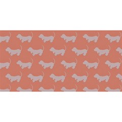Cute Dachshund Pattern In Peach You Are Invited 3d Greeting Card (8x4)