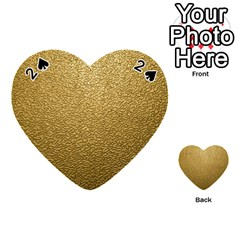 Gold Plastic Playing Cards 54 (heart)