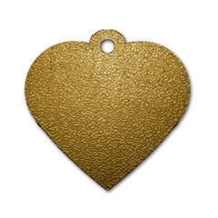 GOLD PLASTIC Dog Tag Heart (One Side)