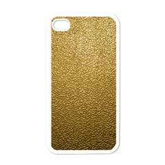 GOLD PLASTIC Apple iPhone 4 Case (White)