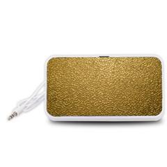 GOLD PLASTIC Portable Speaker (White)