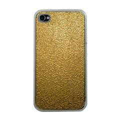 GOLD PLASTIC Apple iPhone 4 Case (Clear)