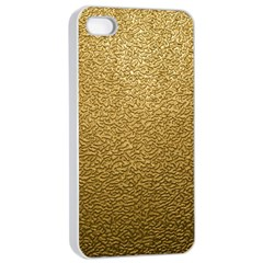 GOLD PLASTIC Apple iPhone 4/4s Seamless Case (White)