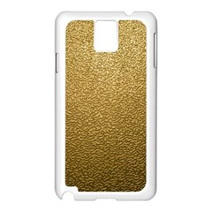 GOLD PLASTIC Samsung Galaxy Note 3 N9005 Case (White)