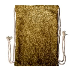 Gold Plastic Drawstring Bag (large)
