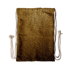 Gold Plastic Drawstring Bag (small)