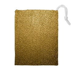 GOLD PLASTIC Drawstring Pouches (Extra Large)