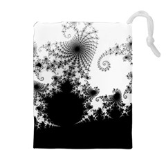 FRACTAL Drawstring Pouches (Extra Large)