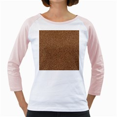 DARK BROWN SAND TEXTURE Girly Raglans