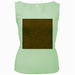 DARK BROWN SAND TEXTURE Women s Green Tank Tops