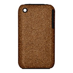 DARK BROWN SAND TEXTURE Apple iPhone 3G/3GS Hardshell Case (PC+Silicone)