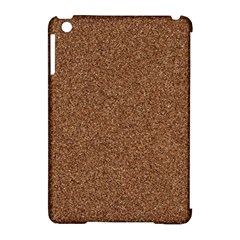 DARK BROWN SAND TEXTURE Apple iPad Mini Hardshell Case (Compatible with Smart Cover)