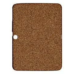 DARK BROWN SAND TEXTURE Samsung Galaxy Tab 3 (10.1 ) P5200 Hardshell Case