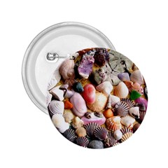 COLORFUL SEA SHELLS 2.25  Buttons