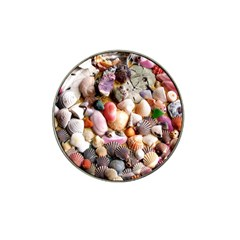 COLORFUL SEA SHELLS Hat Clip Ball Marker (4 pack)