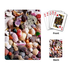 COLORFUL SEA SHELLS Playing Card