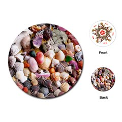 Colorful Sea Shells Playing Cards (round)