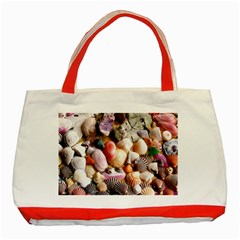 COLORFUL SEA SHELLS Classic Tote Bag (Red)