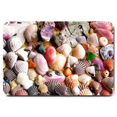 COLORFUL SEA SHELLS Large Doormat