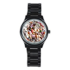 COLORFUL SEA SHELLS Stainless Steel Round Watches