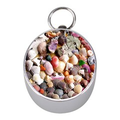 COLORFUL SEA SHELLS Mini Silver Compasses