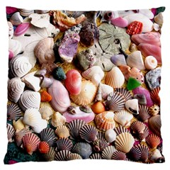 COLORFUL SEA SHELLS Large Flano Cushion Cases (One Side)