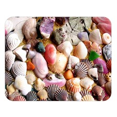 COLORFUL SEA SHELLS Double Sided Flano Blanket (Large)